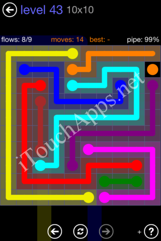 Flow Game 10x10 Mania Pack Level 43 Solution