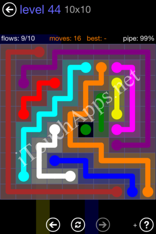 Flow Game 10x10 Mania Pack Level 44 Solution