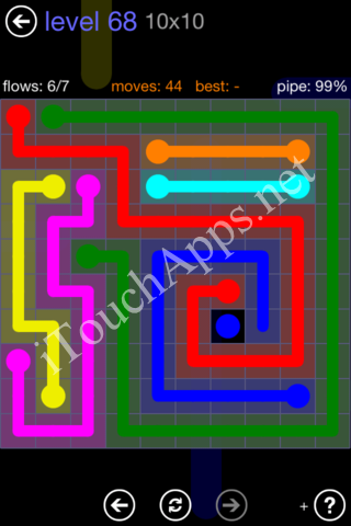 Flow Game 10x10 Mania Pack Level 68 Solution
