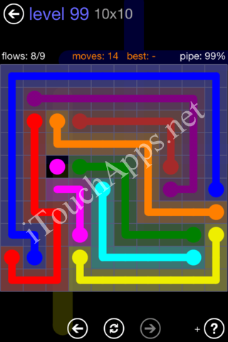 Flow Game 10x10 Mania Pack Level 99 Solution