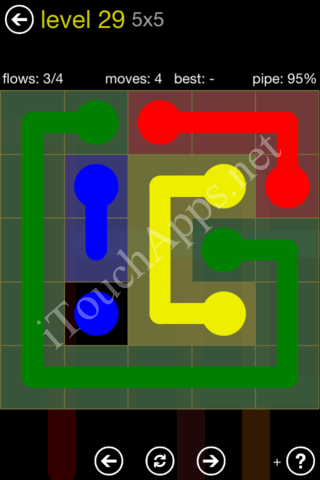 Flow Kids Pack 5 x 5 Level 29 Solution