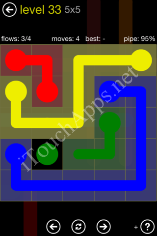 Flow Kids Pack 5 x 5 Level 33 Solution
