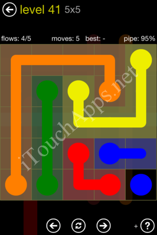 Flow Kids Pack 5 x 5 Level 41 Solution
