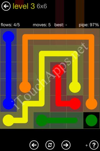 Flow Kids Pack 6 x 6 Level 3 Solution