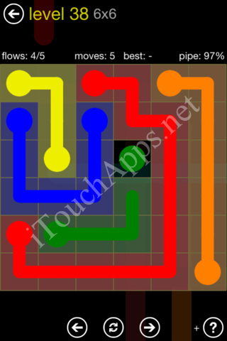 Flow Kids Pack 6 x 6 Level 38 Solution