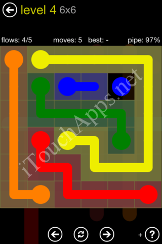 Flow Kids Pack 6 x 6 Level 4 Solution