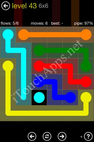 Flow Kids Pack 6 x 6 Level 43 Solution