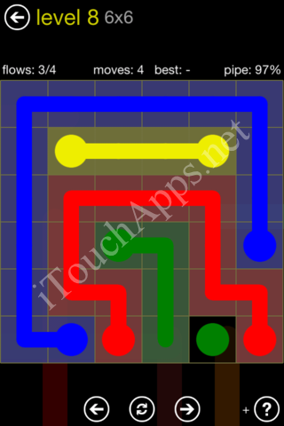 Flow Kids Pack 6 x 6 Level 8 Solution