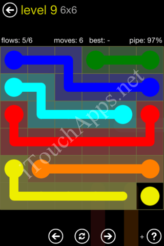 Flow Kids Pack 6 x 6 Level 9 Solution