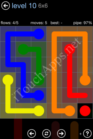 Flow Game Rainbow Pack Level 10 Solution