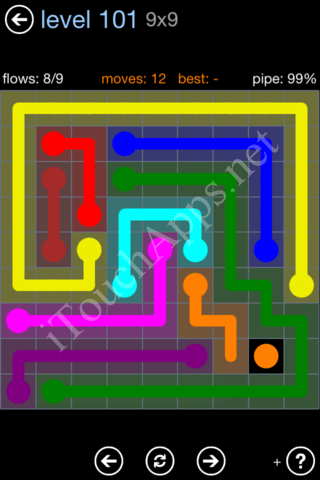 Flow Game Rainbow Pack Level 101 Solution