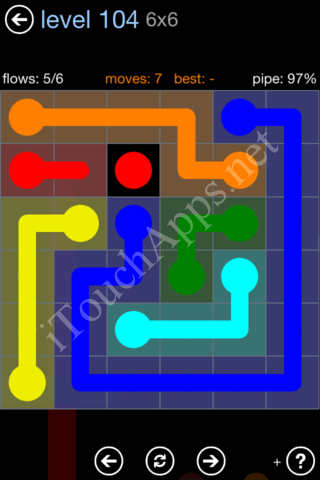 Flow Game Rainbow Pack Level 104 Solution