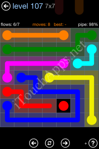 Flow Game Rainbow Pack Level 107 Solution