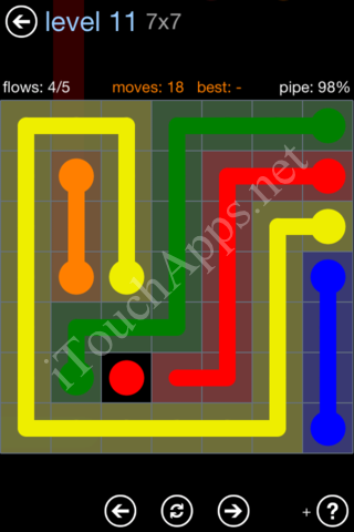 Flow Game Rainbow Pack Level 11 Solution