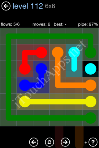 Flow Game Rainbow Pack Level 112 Solution
