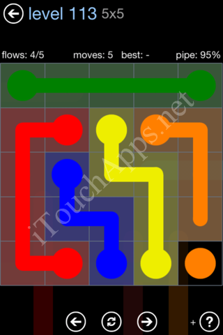 Flow Game Rainbow Pack Level 113 Solution