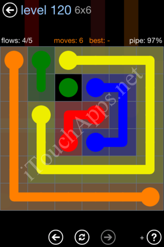 Flow Game Rainbow Pack Level 120 Solution
