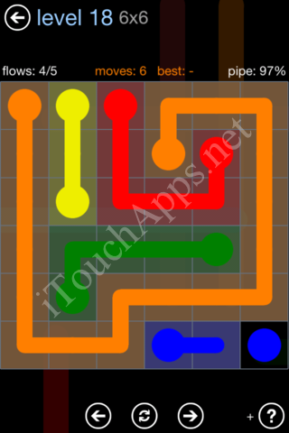Flow Game Rainbow Pack Level 18 Solution