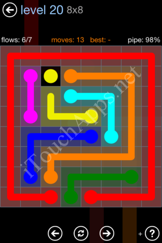 Flow Game Rainbow Pack Level 20 Solution