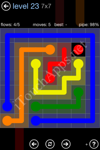 Flow Game Rainbow Pack Level 23 Solution