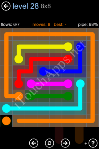 Flow Game Rainbow Pack Level 28 Solution