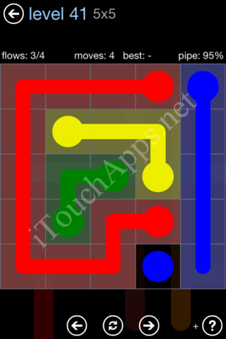 Flow Game Rainbow Pack Level 41 Solution