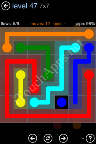 Flow Game Rainbow Pack Level 47 Solution