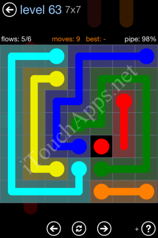 Flow Game Rainbow Pack Level 63 Solution