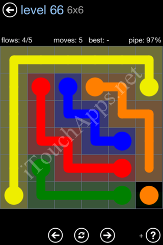 Flow Game Rainbow Pack Level 66 Solution