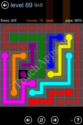Flow Game Rainbow Pack Level 69 Solution