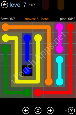 Flow Game Rainbow Pack Level 7 Solution