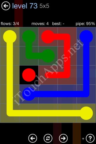 Flow Game Rainbow Pack Level 73 Solution