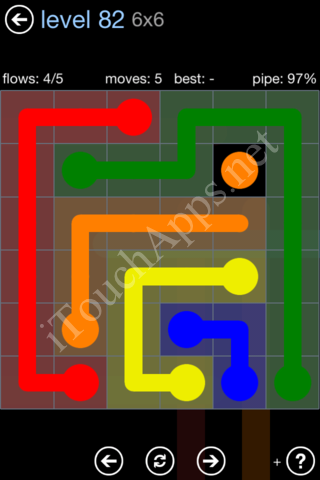 Flow Game Rainbow Pack Level 82 Solution