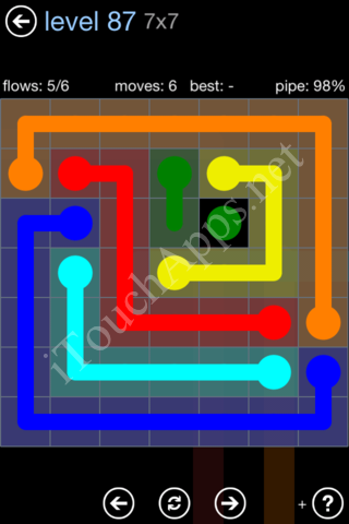 Flow Game Rainbow Pack Level 87 Solution