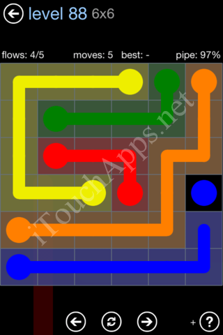 Flow Game Rainbow Pack Level 88 Solution