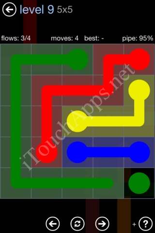 Flow Game Rainbow Pack Level 9 Solution
