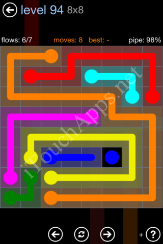 Flow Game Rainbow Pack Level 94 Solution