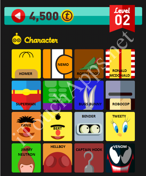 Icon Pop Quiz Character Quiz Level 2 Part 3 Answers / Solutions