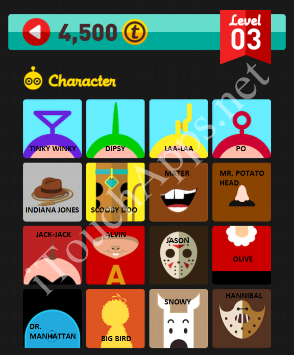 Icon Pop Quiz Character Quiz Level 3 Part 1 Answers / Solutions