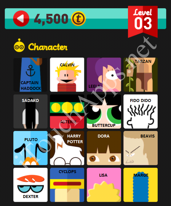 Icon Pop Quiz Character Quiz Level 3 Part 2 Answers / Solutions