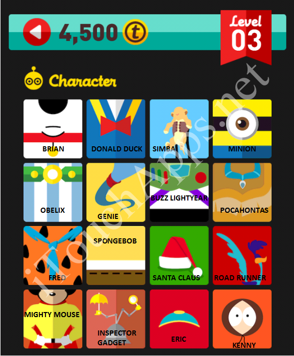 Icon Pop Quiz Character Quiz Level 3 Part 3 Answers / Solutions