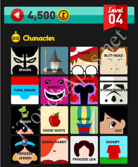 Icon Pop Quiz Character Quiz Level 4 Part 2 Answers / Solutions