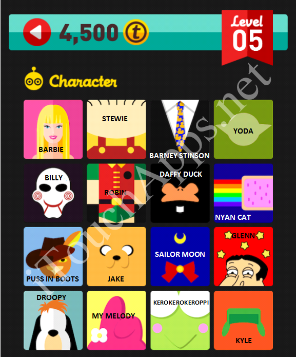 Icon Pop Quiz Character Quiz Level 5 Part 3 Answers / Solutions