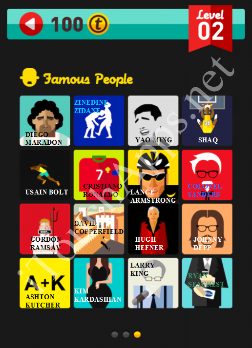 Icon Pop Quiz Game Famous People Quiz Level 2 Part 3 Answers / Solutions