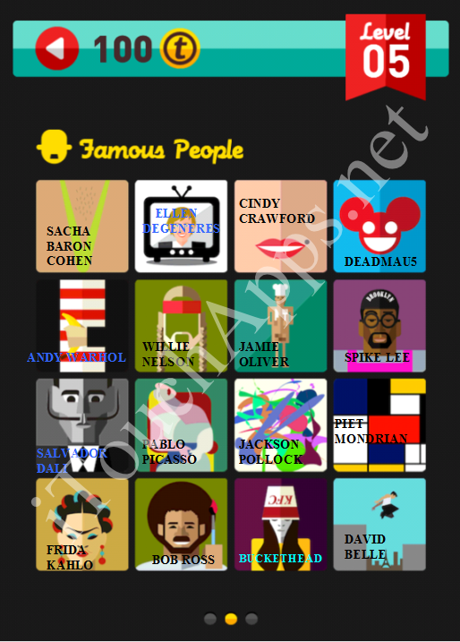 Icon Pop Quiz Game Famous People Quiz Level 5 Part 2 Answers / Solutions