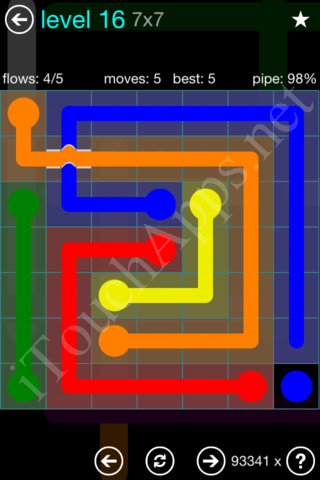 Flow Bridges 7x7 Mania Pack Level 16 Solution