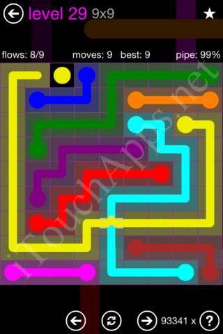 Flow Bridges 9x9 Mania Pack Level 29 Solution