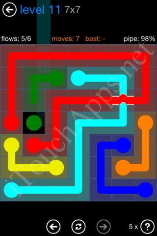 Flow Bridges Challenge Pack 7x7 Level 11 Solution