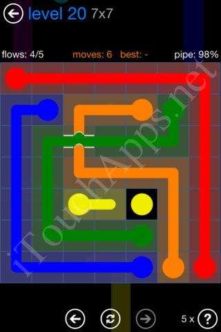 Flow Bridges Challenge Pack 7x7 Level 20 Solution