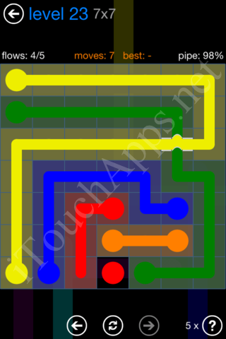Flow Bridges Challenge Pack 7x7 Level 23 Solution